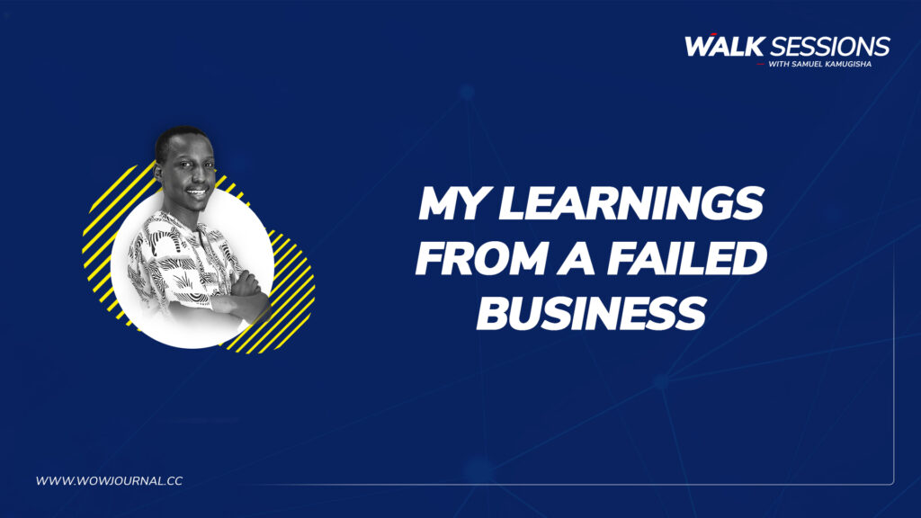WalkSessions 3 - Learnings from a failed business